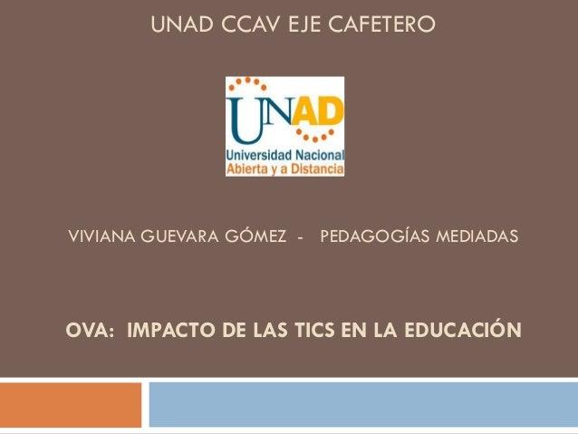 UNAD CCAV EJE CAFETEROVIVIANA GUEVARA GÓMEZ - PEDAGOGÍAS MEDIADASOVA: IMPACTO DE LAS TICS EN LA EDUCACIÓN