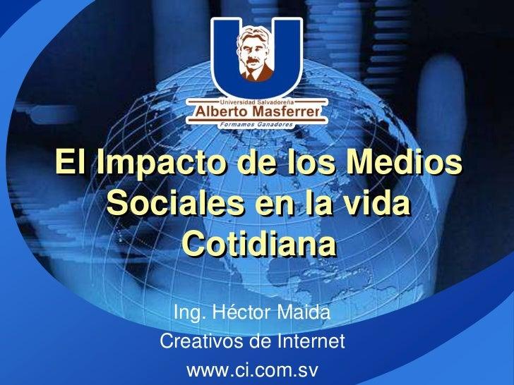 El impacto de los medios sociales en la vida cotidiana usam