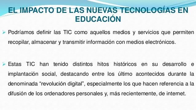 El impacto de las nuevas tecnologías en la educacion - photo#1
