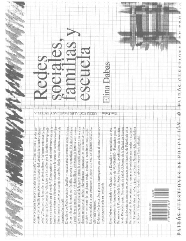DABAS, E. (2003)  REDES SOCIALES, FAMILIA Y ESCUELA. BUENOS AIRES: PAIDOS