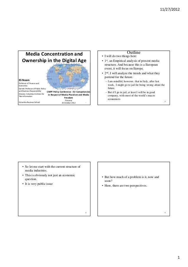 media ownership essay