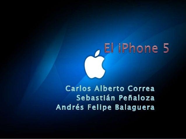    El iPhone 5 es un Smartphone desarrollado    por Apple Inc. Fue presentado como la sexta    generación de iPhone el 12...