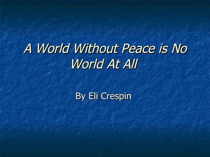 Eli's Peace Project