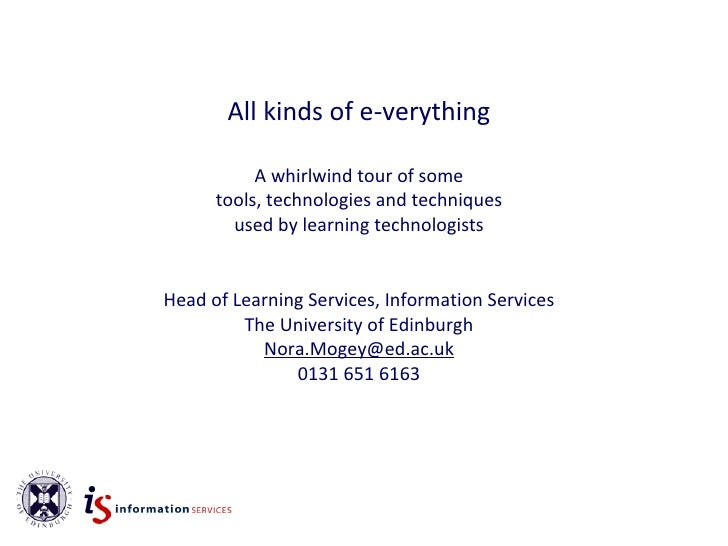 A - Z of E-verything(by Nora Mogey)