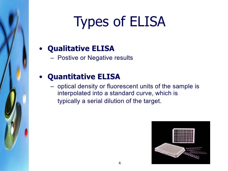 elisa assay lab report An elisa test (nzyme-linked immunosorbent assay) is a method of measuring the amount of substances in body fluids, such as hormones or proteins in blood.