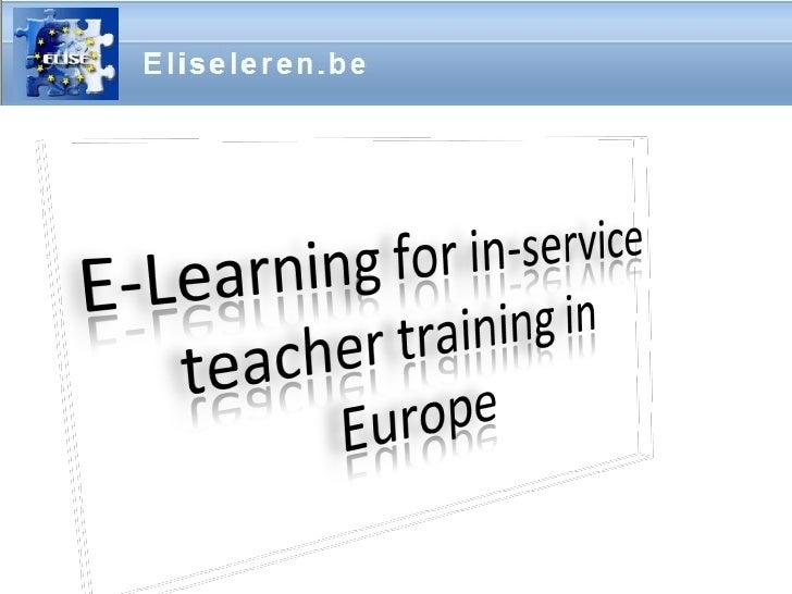 ELISE e-learning course presentation 2007 - 02 - 27