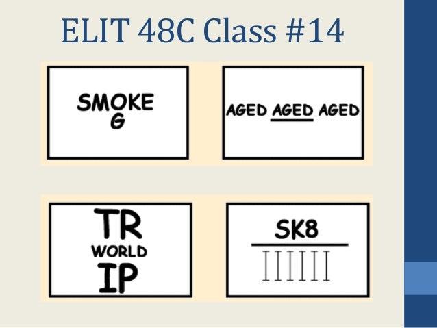 ELIT 48C Class #14