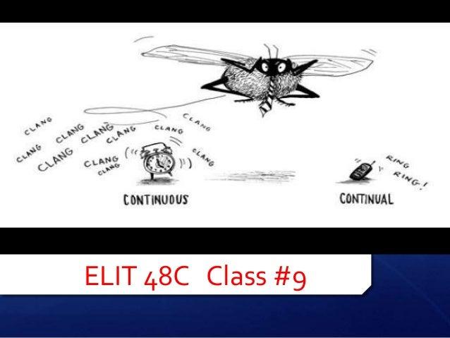 ELIT 48C Class #9