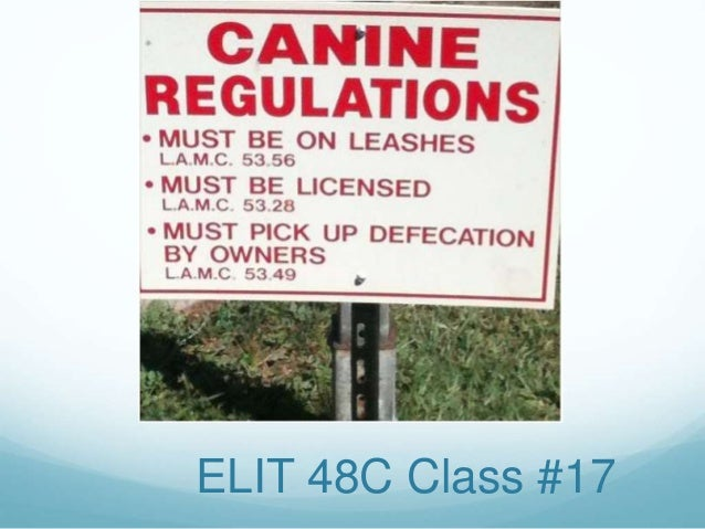 ELIT 48C Class #17