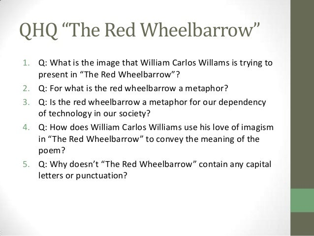 the red wheelbarrow meaning essay How can the answer be improved.