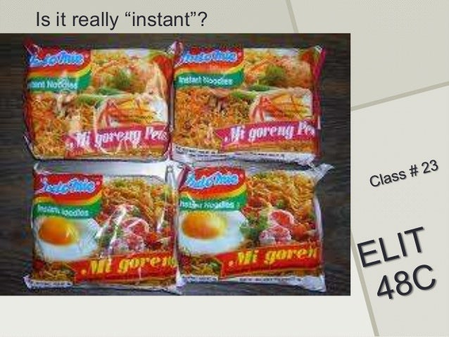 "Is it really ""instant""?"