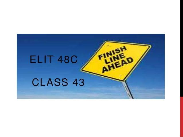 CLASS 43ELIT 48C