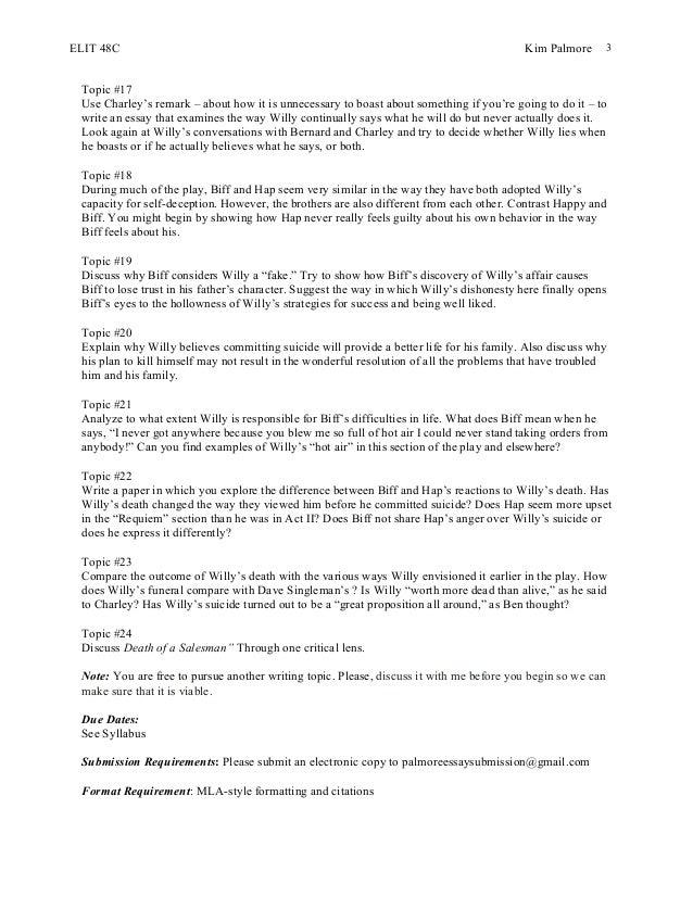 Elit 48 c essay #2 death of a salesman