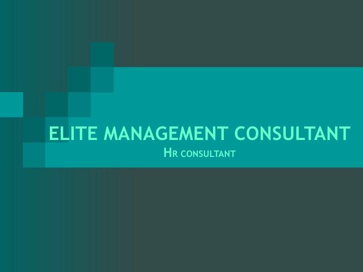 ELITE MANAGEMENT CONSULTANT H R CONSULTANT