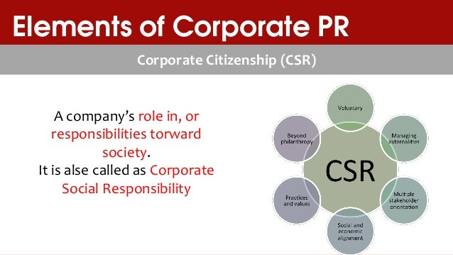 Corporate social responsibility assignment