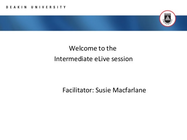Elluminate training intermediate