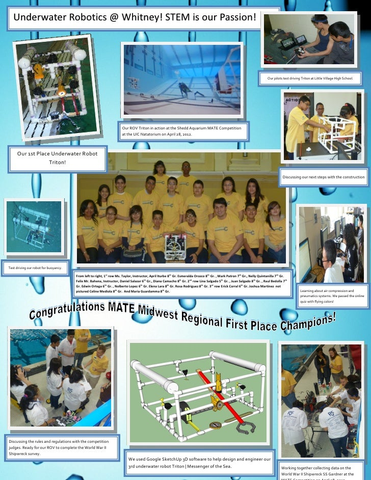 Underwater Robotics @ Whitney! STEM is our Passion!                                                                       ...