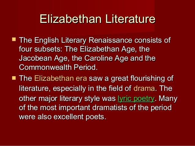 elizabethan essay topics