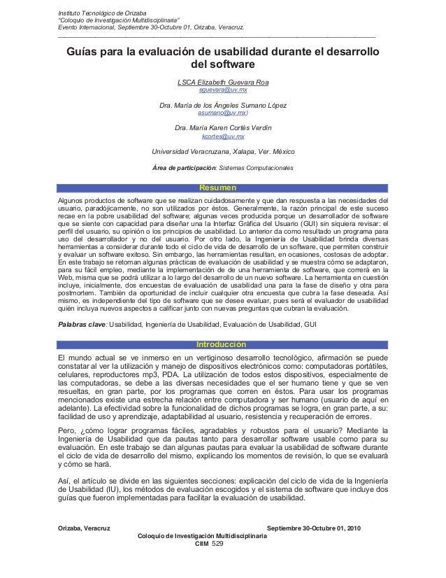 """Instituto Tecnológico de Orizaba """"Coloquio de Investigación Multidisciplinaria"""" Evento Internacional, Septiembre 30-Octubr..."""