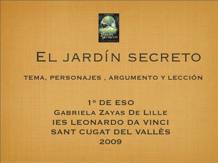 El jard n secreto actividades para 1 de eso for Canciones de oska jardin secreto