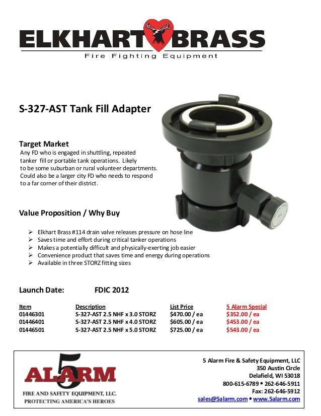 Elkhart S 327 Ast Tank Fill Adapter