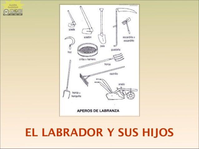EL LABRADOR Y SUS HIJOS