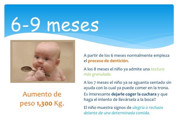 Alimentaci n del lactante de 0 a 1 a o - Cuantas comidas hace un bebe de 8 meses ...