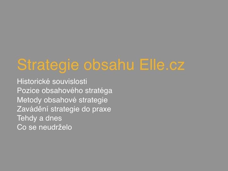 Elle Content Strategy