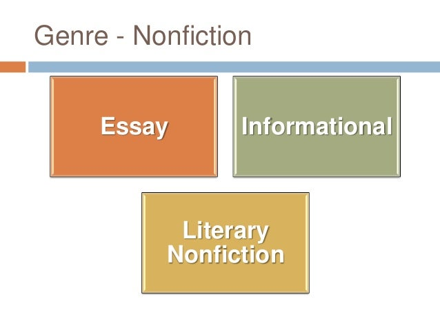 genres of literature 4 essay
