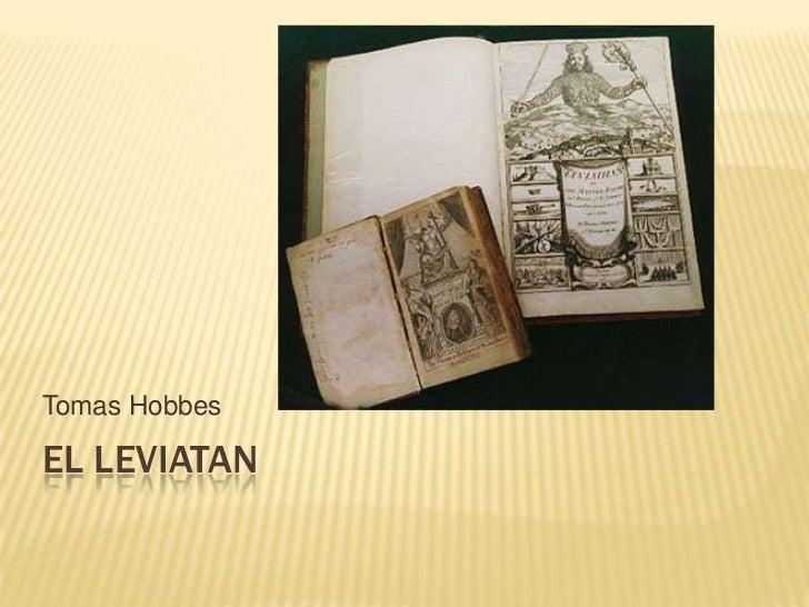 El Leviatan<br />Tomas Hobbes<br />