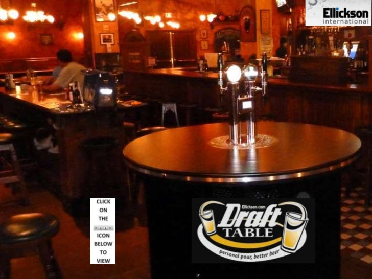 Draft Table - pour & pay for beer at your own table !