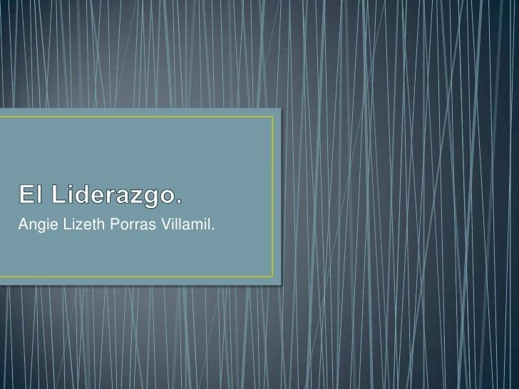 Angie Lizeth Porras Villamil.