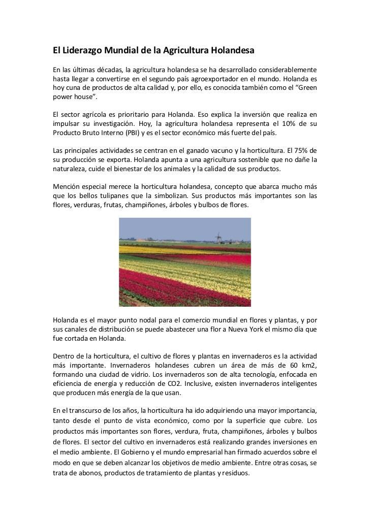 El Liderazgo Mundial de la Agricultura HolandesaEn las últimas décadas, la agricultura holandesa se ha desarrollado consid...