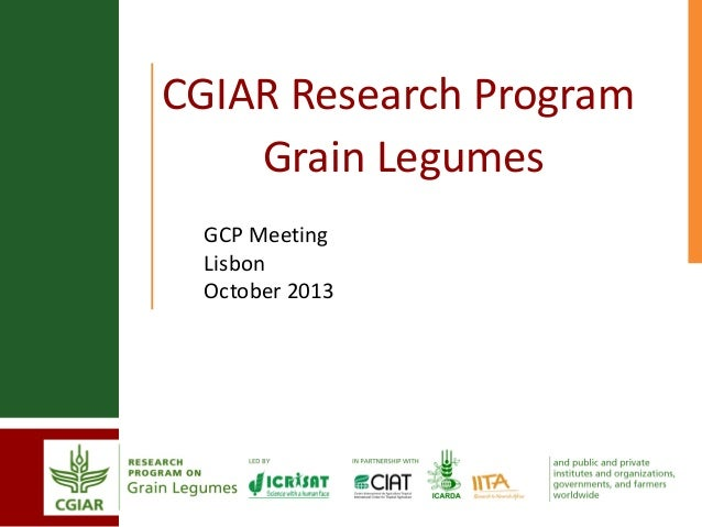 GRM 2013: CGIAR Research Program Grain Legumes -- N Ellis