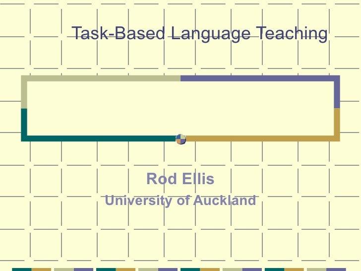 Ellis Task Based Language Teaching Korea 20064016