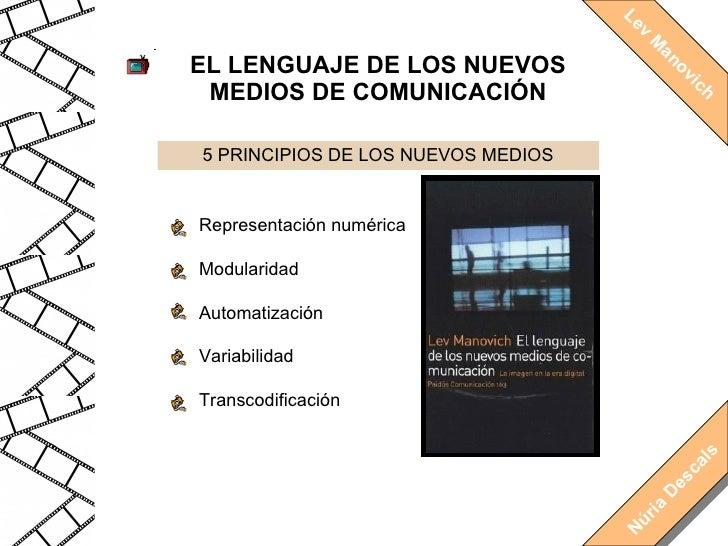 5 PRINCIPIOS DE LOS NUEVOS MEDIOS EL LENGUAJE DE LOS NUEVOS MEDIOS DE COMUNICACIÓN Lev Manovich Representación numérica Mo...