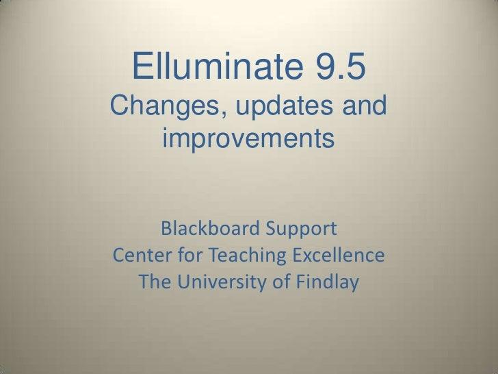 Elluminate9.5 Update