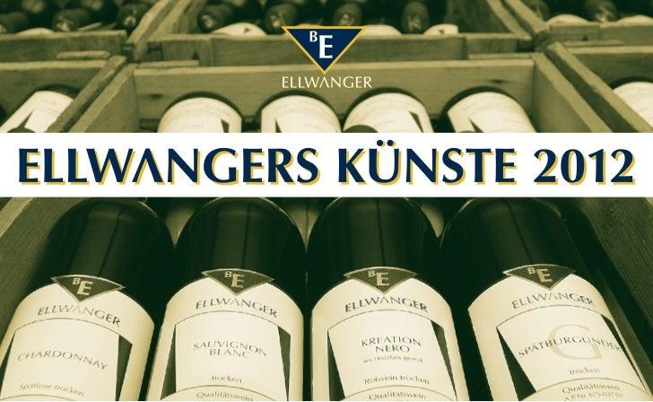 20. – 22. APRIL 2012 – Wein & Gesang IM WEINGUT BERNHARD ELLWANGERWas Wein und Gesang gemeinsam haben? Beides ist eine hoh...
