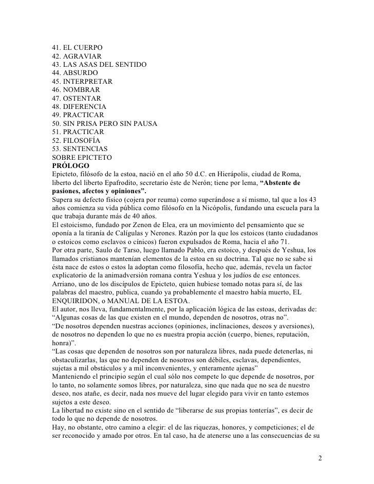 El manual de Epicteto