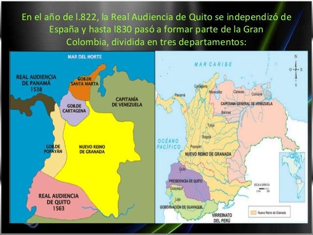 Mapa Politico de la Gran Colombia Parte de la Gran Colombia