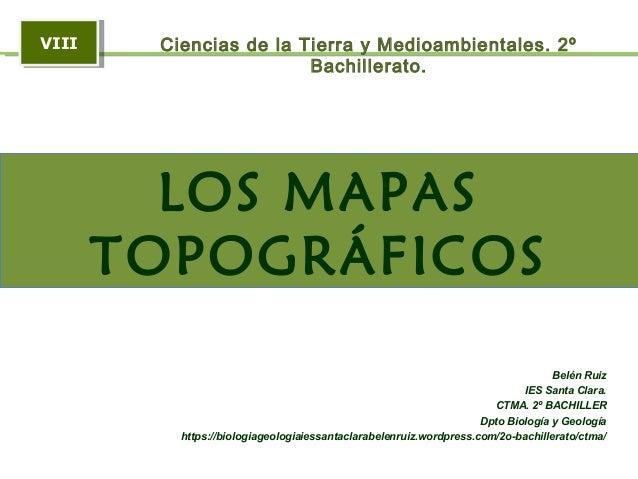 El mapa topográfico