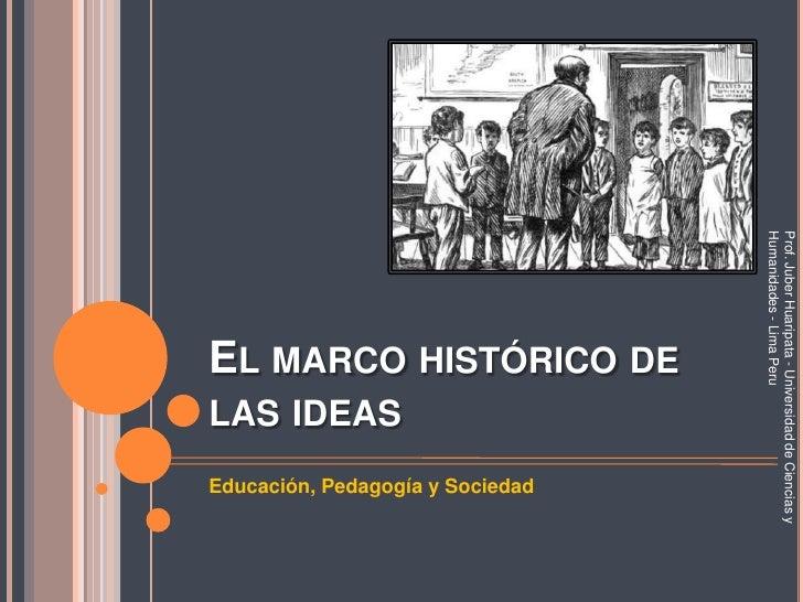 Prof. Juber Huaripata - Universidad de Ciencias y Humanidades - Lima Peru                   EL MARCO HISTÓRICO DE         ...