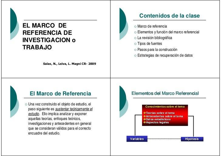 Contenidos de la claseEL MARCO DE                                         Marco de referenciaREFERENCIA DE                ...