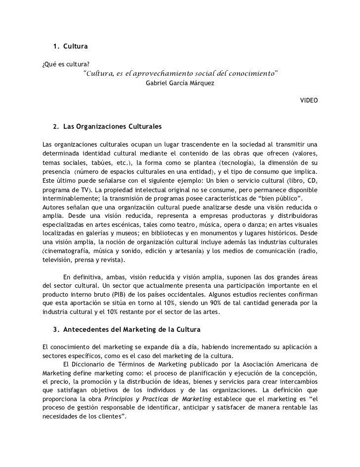 """Cultura<br />¿Qué es cultura? <br />""""Cultura, es el aprovechamiento social del conocimiento""""<br />Gabriel García Márquez<b..."""