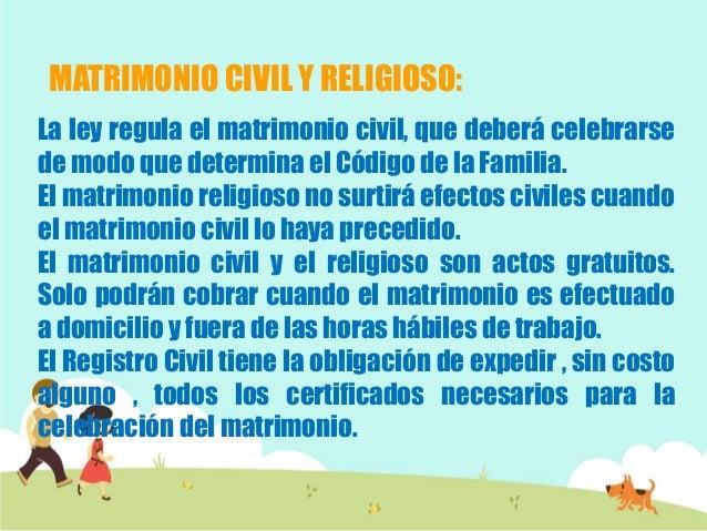 El Matrimonio Catolico Tiene Efectos Civiles : El matrimonio en panamá
