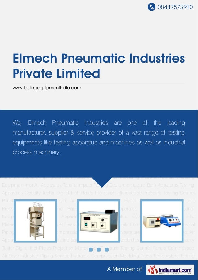 Testing Apparatus by Elmech pneumatic-industries-private-limited