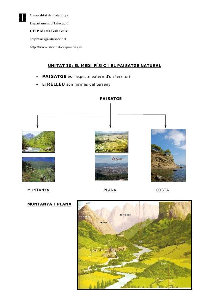 El medi físic i el paissatge natural