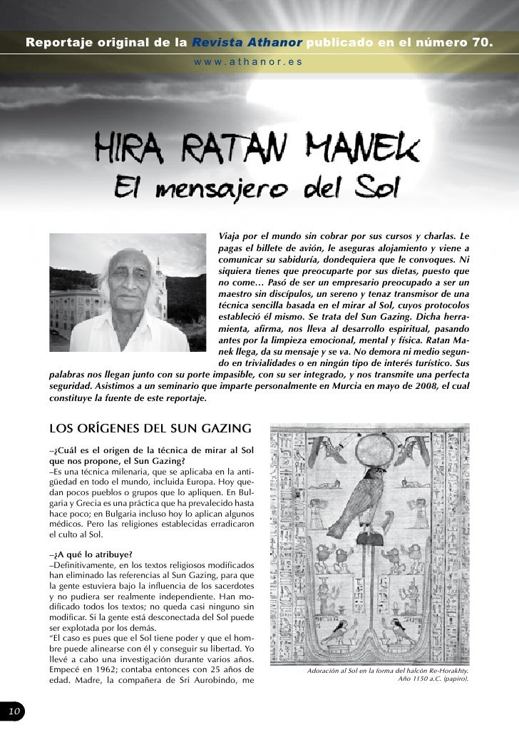 Reportaje original de la Revista Athanor publicado en el número 70.                                               www.atha...
