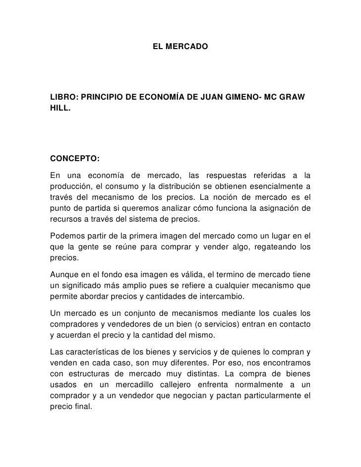 El Mercado Documento Juan Gimeno