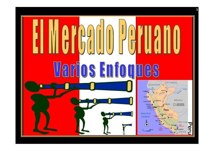 El mercado peruano